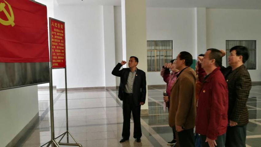 昭平县残联全体党员干部到英家革命传统教育基地参观学习