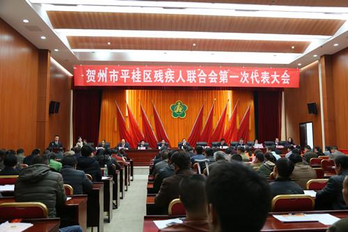 贺州市平桂区召开残疾人联合会第一次代表大会