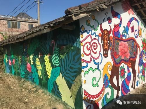 贺州:巧借东风美乡村 壁画助推乡村旅游