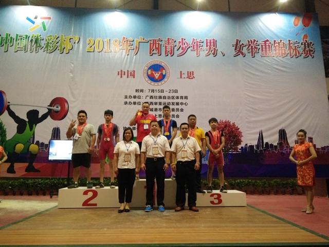 2018年广西青少年举重锦标赛男子比赛