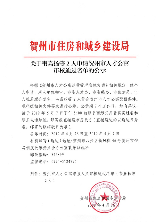 关于韦嘉扬等2人申请贺州市人才公寓审核通过名单的公示_页面_1.jpg